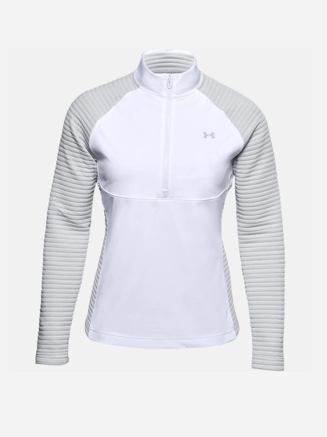 Under Armour dames golfsweater Storm Evolution wit