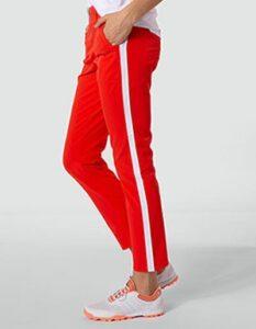 Alberto dames golfpantalon Lucy 7/8 3xDry oranje-wit