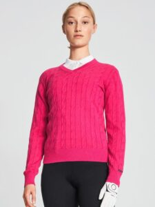 Röhnisch dames golfpullover Cable roze
