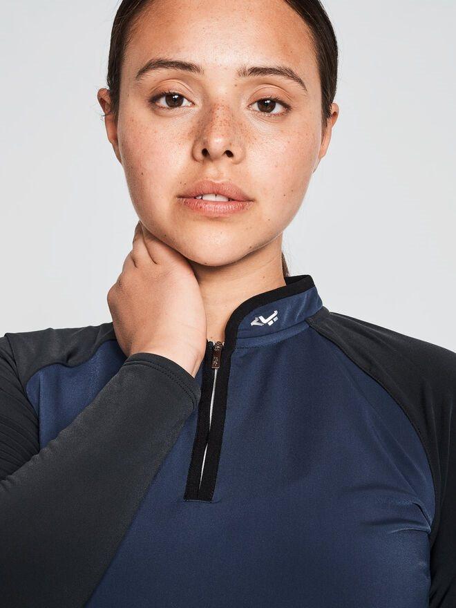 Röhnisch dames golfpully Heat half zip navy