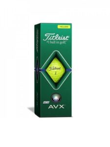 Titleist golfballen AVX sleeve geel