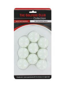 Golfers Club golfballen Practice 30% afstand wit