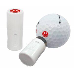 Asbri golfbalstempel Smiley rood