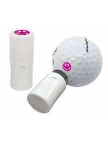 Asbri golfbalstempel Smiley roze