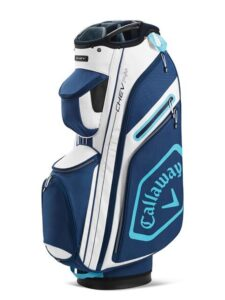 Callaway golftas Chev 14+ Cart Bag wit-donkerblauw