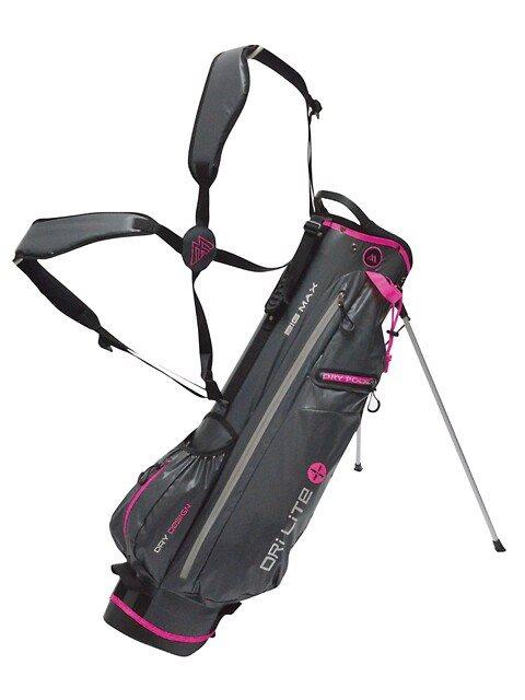 Big Max golftas Dri Lite 7 Stand Bag grijs-lichtgrijs-roze