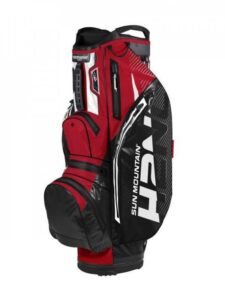 Sun Mountain golftas H2NO 14 Lite Cart Bag zwart-rood-wit