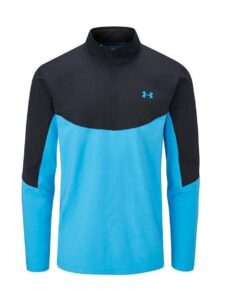 Under Armour heren golf midlayer korte rits zwart-blauw