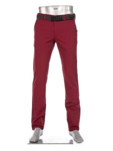 Alberto heren golfpantalon Rookie 3xDry Cooler bordeauxrood