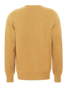 William Lockie heren golfpullover lamswol V-hals goudkleurig