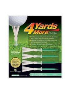4 Yards More golftees 4 inch green