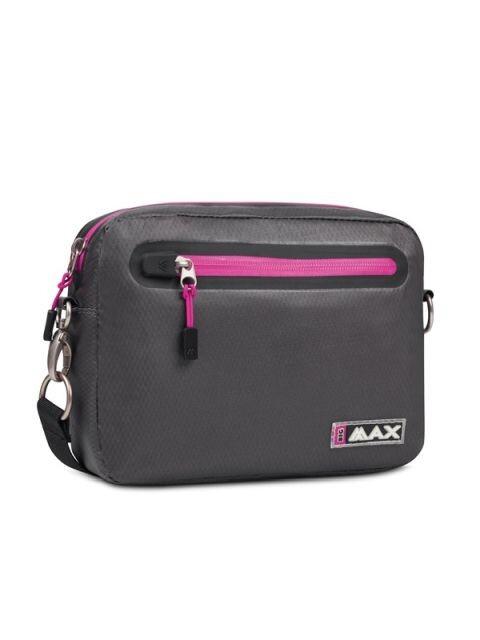 Big Max handtasje Aqua grijs-roze 24x18x5cm