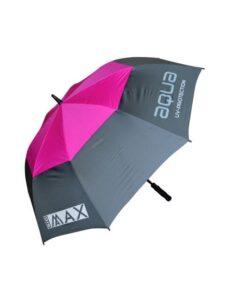 Big Max golfparaplu Aqua UV grijs-fuchsia