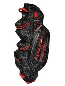 Bennington golftas IRO QO Dry Cart Bag zwart-rood