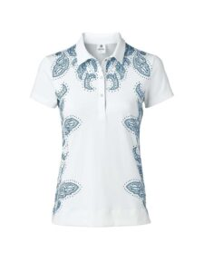 Daily Sports dames golfpolo Pammy korte mouw wit-print