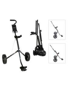 Fastfold junior golftrolley 2-wiel zwart