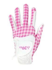 Fit39ex dames golfhandschoen roze ruitje