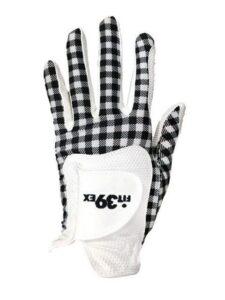 Fit39ex dames golfhandschoen zwart ruitje