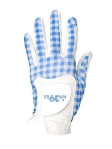 Fit39ex dames golfhandschoen blauw ruitje