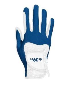 Fit39ex unisex golfhandschoen blauw-wit RECHTERHAND