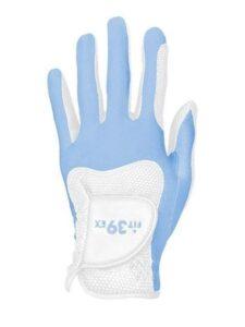 Fit39ex unisex golfhandschoen blauw-wit