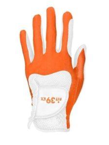 Fit39ex unisex golfhandschoen oranje-wit