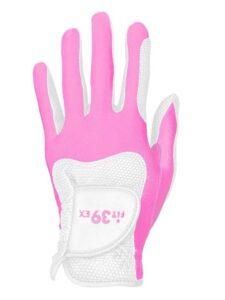 Fit39 unisex golfhandschoen wit-roze