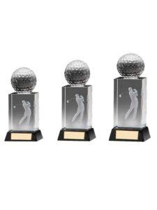 Fore golfer in glas 1e prijs