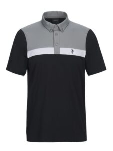 Peak Performance heren golfpolo Panmore button down zwart