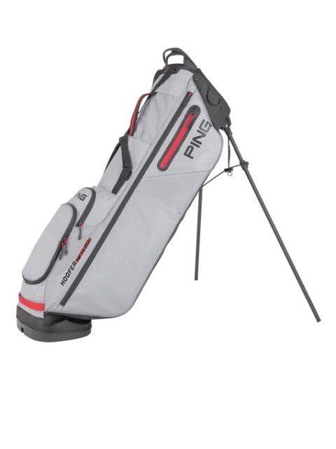 Ping golftas Hoofer Craz-E Lite Stand Bag lichtgrijs-zwart