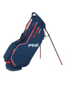 Ping goltas Hoofer Stand Bag blauw-rood-wit