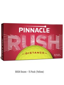 Pinnacle golfballen Rush 15-stuks geel