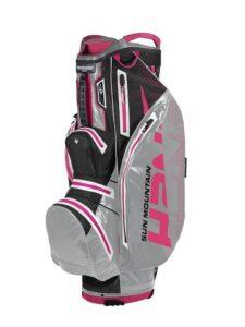 Sun Mountain golftas H2NO Lite Cart Bag grijs-zwart-roze
