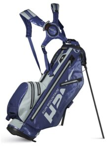 Sun Mountain golftas H2NO Lite Stand Bag navy-zilver