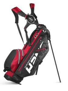 Sun Mountain golftas H2NO Lite Stand Bag 2020 zwart-rood-wit