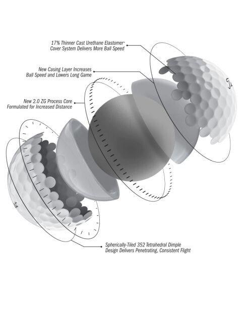 Titleist golfballen Pro V1 sleeve wit