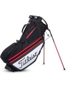 Titleist golftas Hybrid 14 Stand Bag zwart-wit-rood