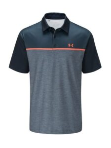 Under Armour heren golfpolo Crestable Playoff 2.0 navy-oranje