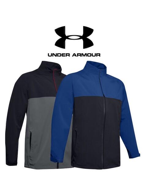 Under Armour heren golf regenjack Elements blauw-zwart