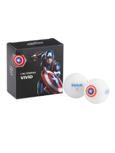 Volvik golfballen Marvel Captain America White 4-pack