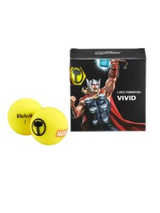 Volvik golfballen Marvel Thor Yellow 4-pack