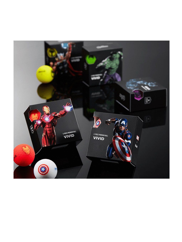 Volvik golfballen Marvel Thor Yellow 4-pack