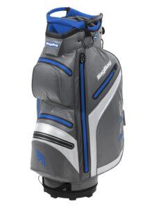 BagBoy golftas DG Lite DRI TL Cart Bag grijs-wit-blauw