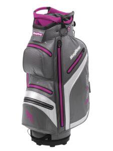 BagBoy golftas DG Lite DRI TL Cart Bag grijs-wit-roze