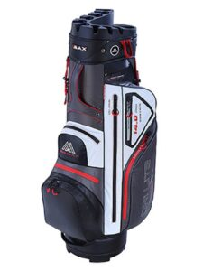 Big Max golftas Dri Lite Silencio Cart Bag grijs-wit-zwart-rood