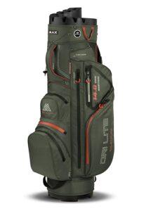 Big Max golftas Dri Lite Silencio Cart Bag olijfgroen-oranje