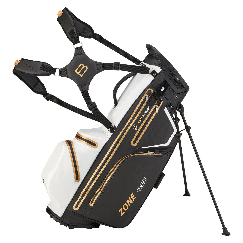 Bennington golftas Zone 14 DB Stand Bag Waterproof zwart-wit-goud