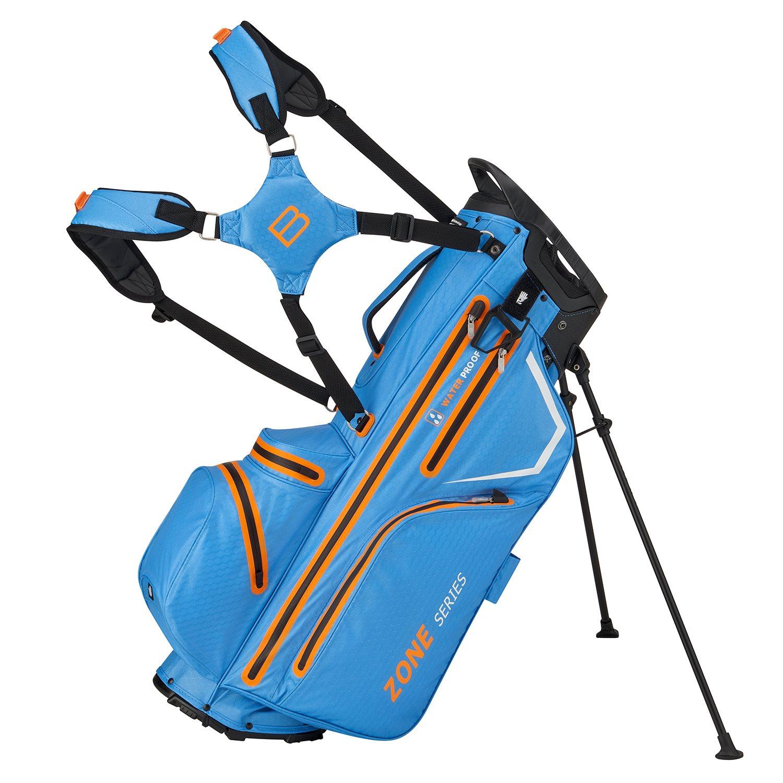 Bennington golftas Zone 14 DB Stand Bag Waterproof blauw-oranje-wit