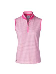 Daily Sports dames golfpolo Talia korte mouw roze-wit