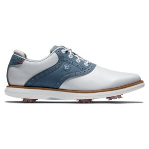 FootJoy dames golfschoenen Traditions wit-blauw